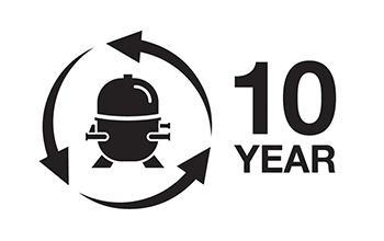 10 Year Compressor Warranty
