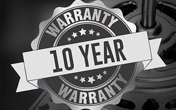 10 Year Motor Warranty