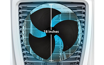 "18"" AERODYNAMIC FAN BLADES"