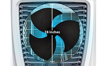 """18"""" AERODYNAMIC FAN BLADES"""