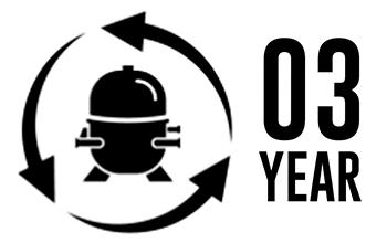 3-year compressor warranty
