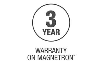 3 Year Magnetron Warranty