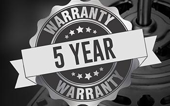 5 Year Wash Motor Warranty