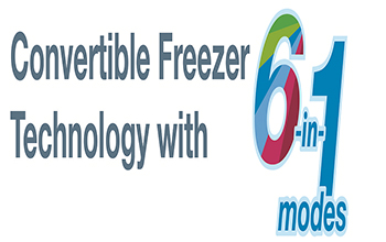 6 in 1 Convertible Freezer Technology