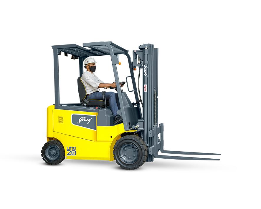 Godrej UNO 4 Wheel Electric Forklift 1.5 / 2.0 / 2.5 / 3.0 tonne