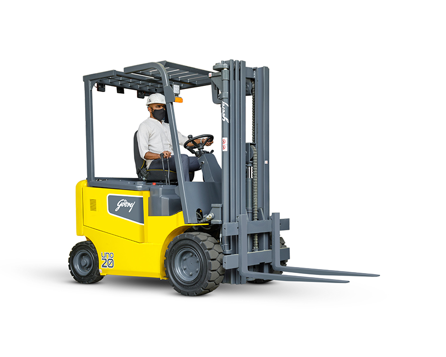 1.5 to 2 tonne UNO series Godrej Electric Forklift 5