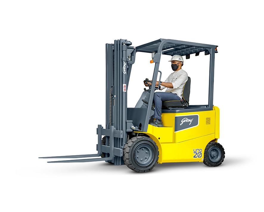 1.5 to 2 tonne UNO series Godrej Electric Forklift 6